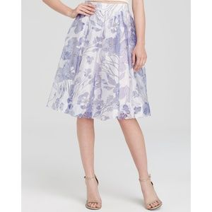 French connection water garden sheer skirt